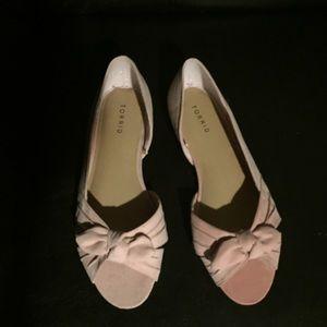 11 pink peep toe flats